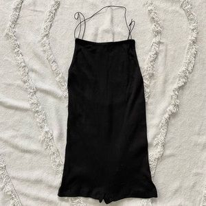Out from Under sz XS 90's ribbed romper black UO